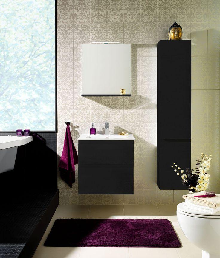 Moderni kylpyhuone aasialaisella vivahteella. - Modern bathroom with Asian nuance.