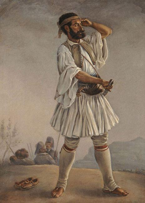 Μαργαρίτης Φίλιππος (1810 - 1892) Ο οπλαρχηγός Γκούρας Λάδι σε μουσαμά. Συλλογή Ιδρύματος Ε. Κουτλίδη Margaritis Philippos (1810 - 1892) The Chieftain Gouras Oil on canvas. E. Koutlidis Foundation Collection.
