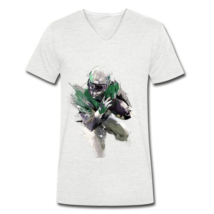 40B Streetart Runningback V-Neck T-Shirt aus Bio-Baumwolle by 40 Burger // Finest Football & Fashion. #americanfootball #football #40b #nfl #rannfl #t-shirt #tshirt #v-neck #vneck #organiccotton #bio #biobaumwolle #runningback #streetwear