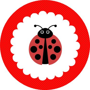Free Printable Red #Ladybug #Cupcake #Toppers. Click for more free printable to decorate your table.