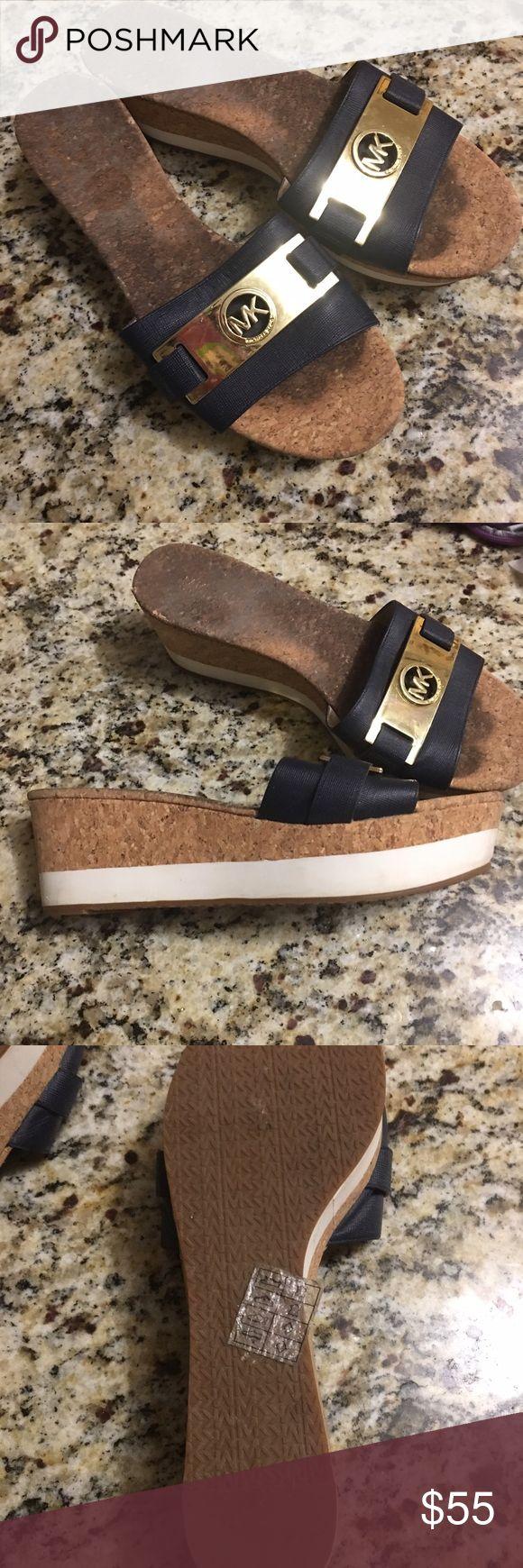 Michael kors Navy blue sandals size 9 Michael  kors Navy blue sandals size 9 good condition like new Michael Kors Shoes Sandals