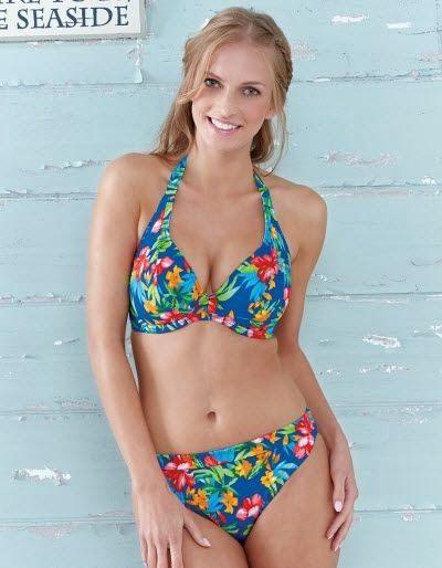 Acapulco Bikini Top in Floral Print