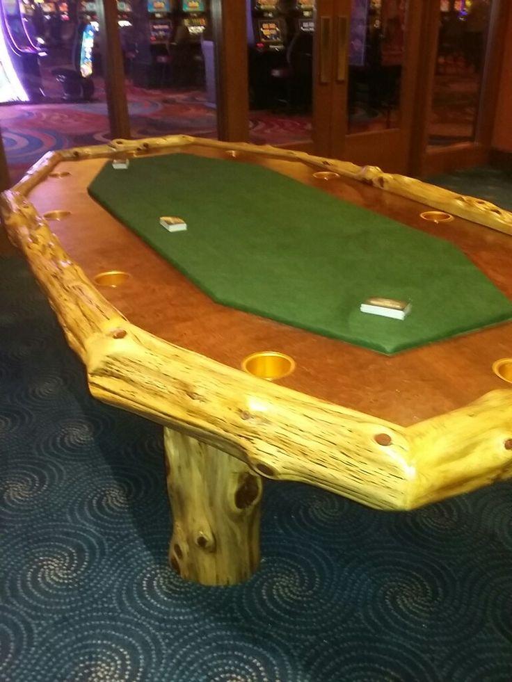 Rustic sofa tables · Cedar Log Poker Table, Full Size -  www.facebook/philswildwoodcreations