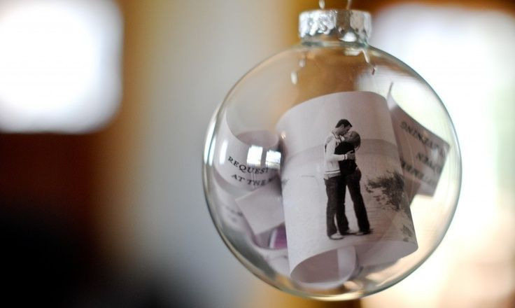For those who have lost a loved one: fill ornament with funeral program and flowers from their funeral service.