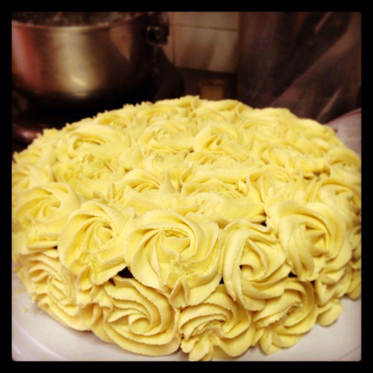 Torta de zanahoria con pasas.  Rosas!!!!