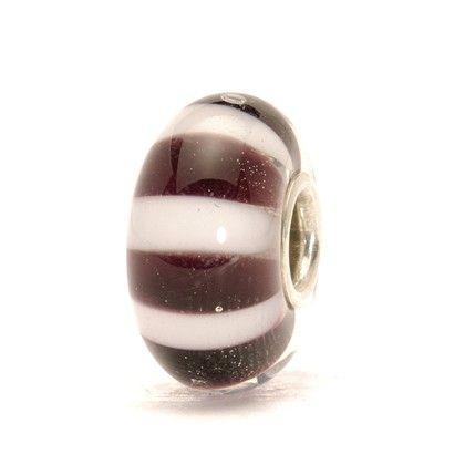 Black and White Stripes Bead - Trollbeads.com
