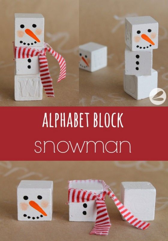 I think these would be really cute for the little kids. You can buy wooden blocks cheap, they could do it really easily and they could glue them together or just make 2-3 heads and 2--3 bodies and play with them. I like this craft too!