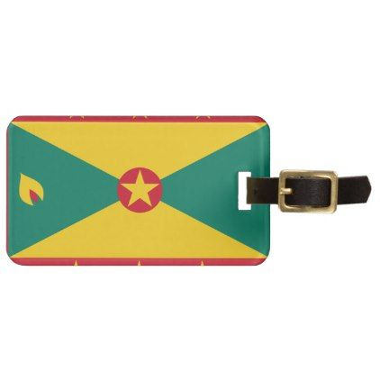 #Grenada Flag Bag Tag - #luggage #tags
