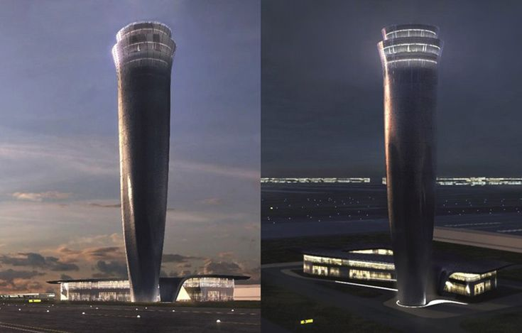 World's Top Designers Compete for the Airport Traffic Control Tower of the New Istanbul Airport Zaha Hadid's proposal got their inspiration from whirling dervishes.