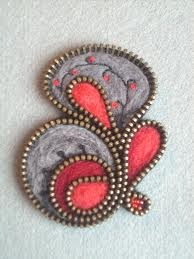 pins made of zippers....ab-fab designs!
