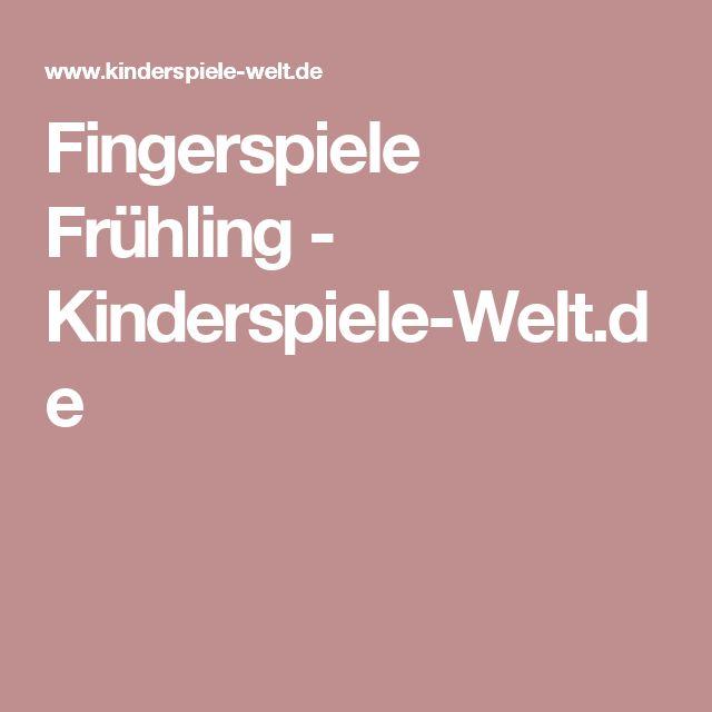 Fingerspiele Frühling - Kinderspiele-Welt.de