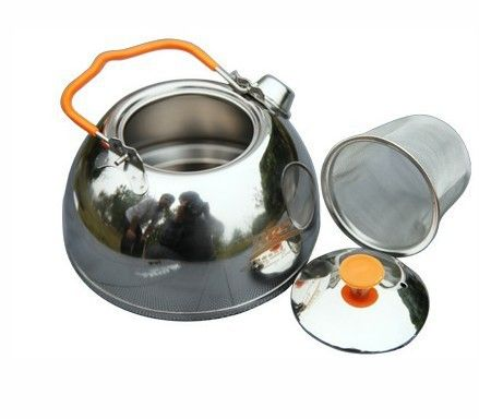 BRS Stainless Steel Tea Pot Camping Kettle Outdoor Water Kettle Picnic Portable Cookware BRS-TS07