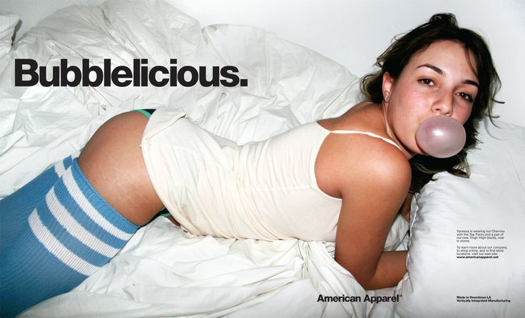 Chapter 10: American Apparel is what comes to mind when I think of sex appeal in advertising. They like to target the average hip american girl can with these racy ads. It follows the idea that sex does sell..