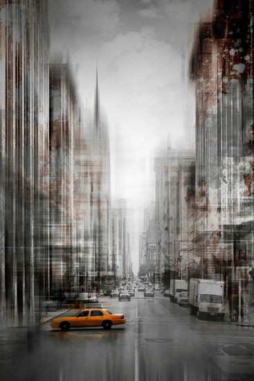 Neu in meiner Galerie bei OhMyPrints: City-Art NYC 5th Avenue #NYC #Manhattan #USA #urban #modern #dekorativ #blur #Kunst #wallart #5thAvenue #USA #art #decorative