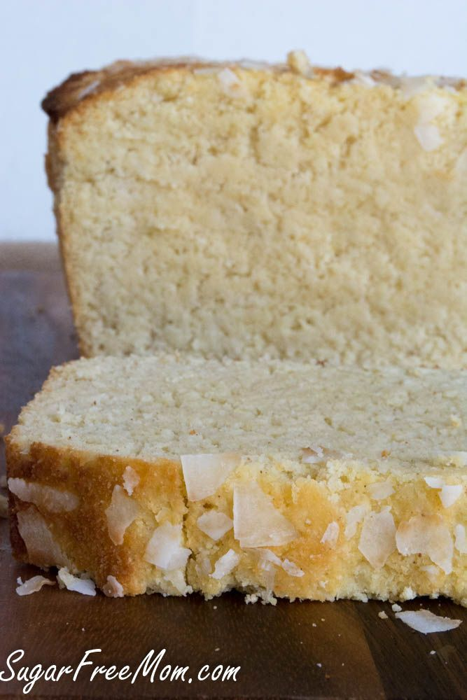 Sugar Free Lemon Coconut Pound Cake {Low Carb and Grain Free} - New Recipe from Sugar Free Mom