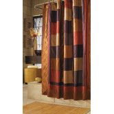 Found it at Wayfair - Kashmir Polyester Shower Curtain. I love those saturated colors!