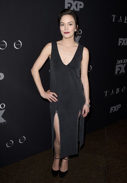 """Actress Britt Lower arrives at the premiere of FX's """"Taboo"""" at the Directors Guild of America on January 9, 2017 in Los Angeles, California."""
