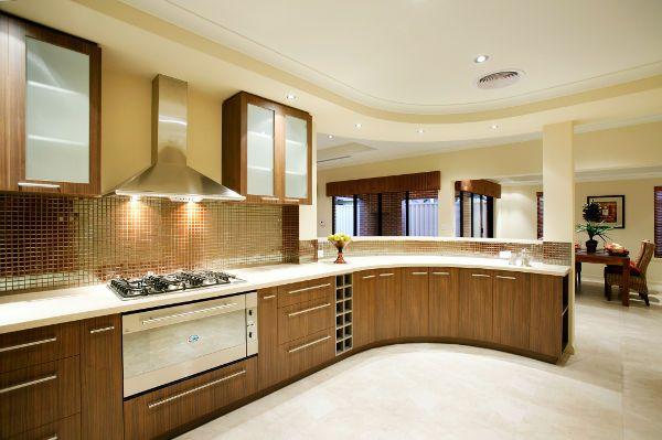 Modelo de cozinha em península, cozinha de luxo