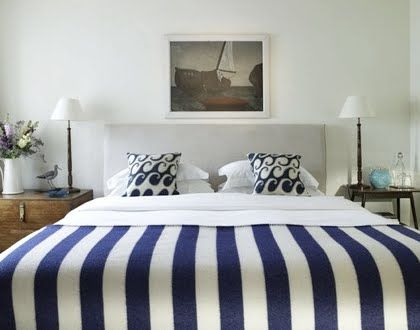 Coastal, Beach and Nautical Decor Ideas: Coastal Bedrooms -Design Ideas from Hotels