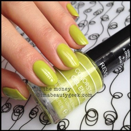Revlon Gel Envy In The Money. There's WAY more Gel Envy swatches (and a review) on clickthru to imabeautygeek.com