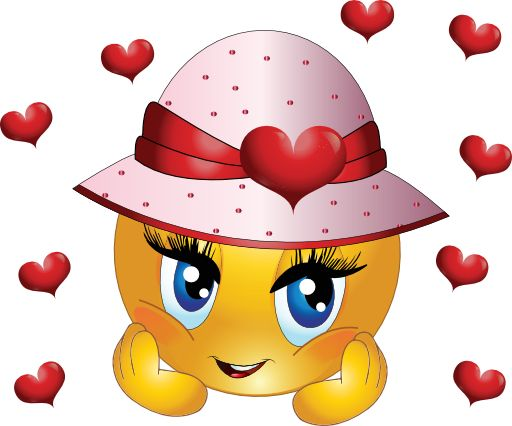 Cute Girl Smiley Faces   Cute Girl Smiley Emoticon Clipart - Royalty Free Public Domain Clipart