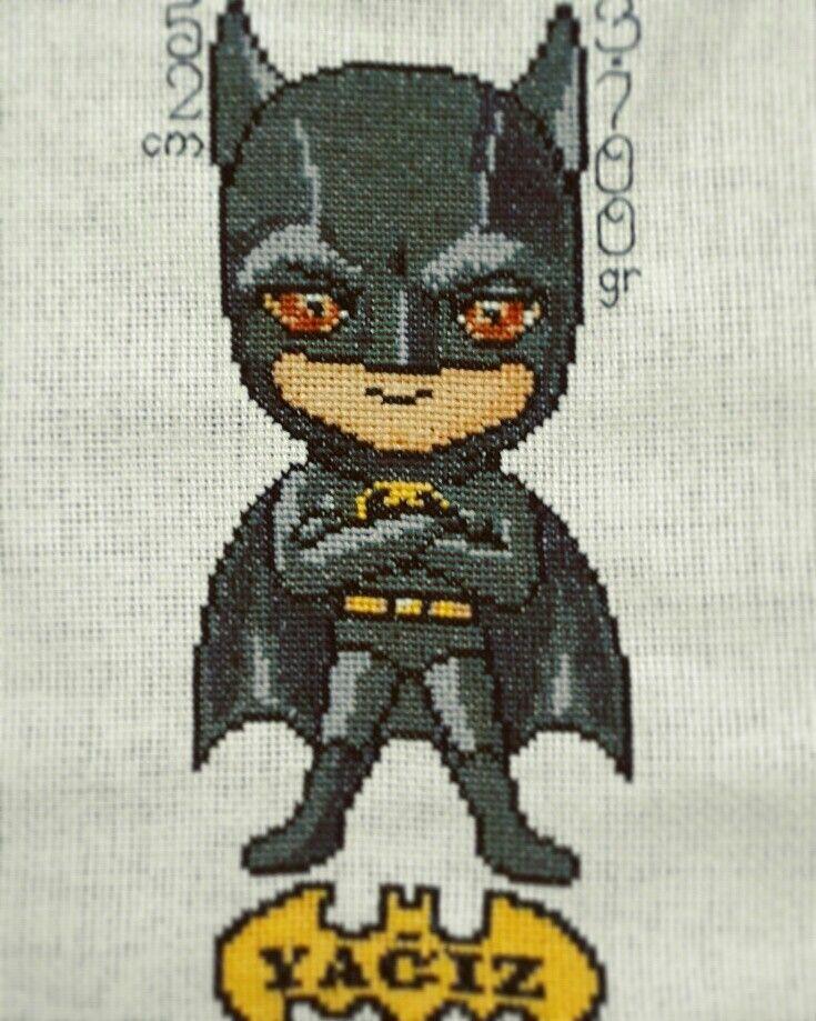 Batman cross stitch / batman bebek panosu