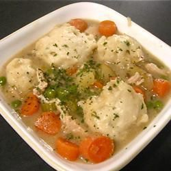 "Dumplings | ""These are my favorite recipe for dumplings hands down! Thick and fluffy- yummy!"""