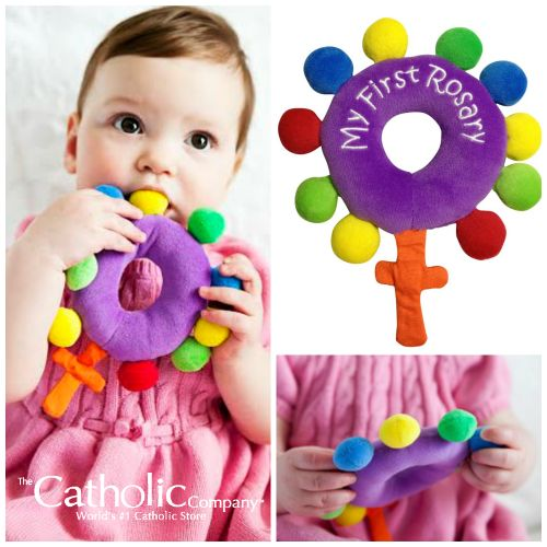 One of our best-selling items over the Christmas season was the My First Rosary Plush Toy, designed & created by Catholic parents. Find it here: It's so cute! Makes a great gift for baby baptisms too. #CatholicCompany