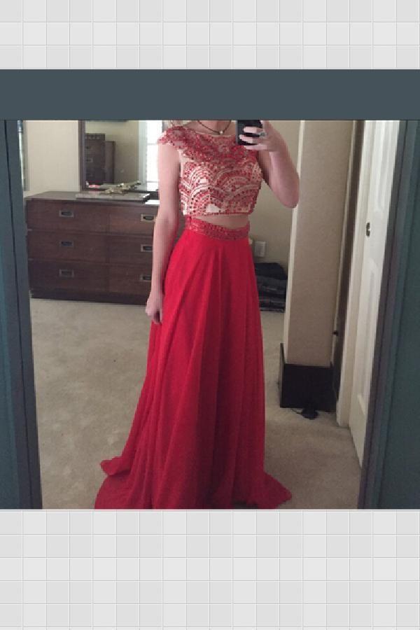 250d812e2865c Outlet Cute Prom Dresses Two Piece, Long Prom Dresses, A-Line Prom Dresses  Cute Evening Dress, A-Line Prom Dresses, Prom Dresses, Evening Dress Two  Piece, ...