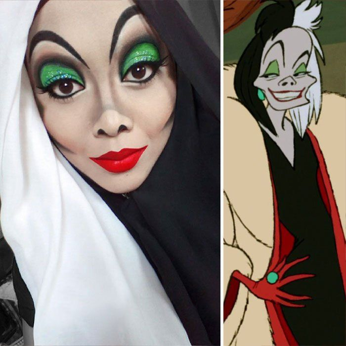 Halloween Make-up: Make-up Special Von Disney Villains Disney Villains Makeup, Disney Princess Makeup, Disney Makeup, Disney Villain Costumes, Disney Characters, Disney Character Makeup, Disney Halloween Makeup, Halloween Makeup Looks, Halloween Costumes