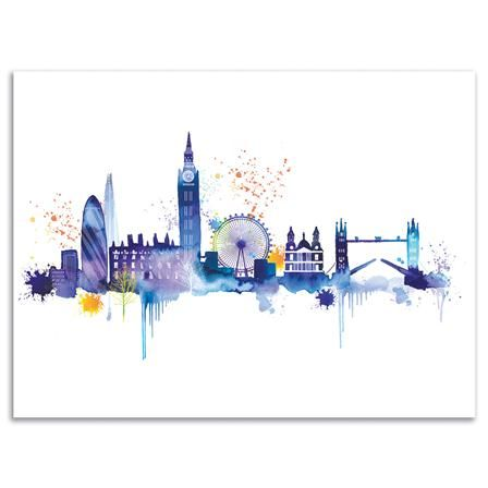 Summer Thornton - London Skyline, Canvas Print, 30x40cm, £22