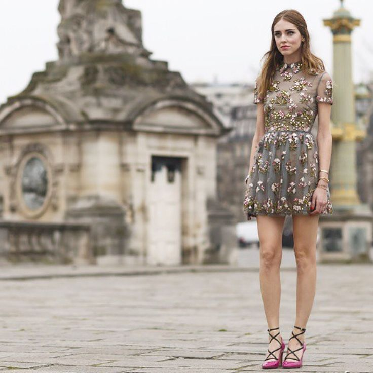 Chiara Ferragni⭐️Instagram @isiljakob⭐️Valentino dress, street style, street fashion, fashion, fashion week