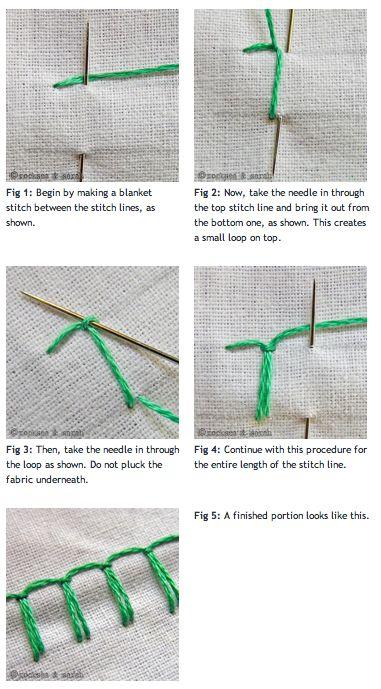 Up & Down Blanket Stitch