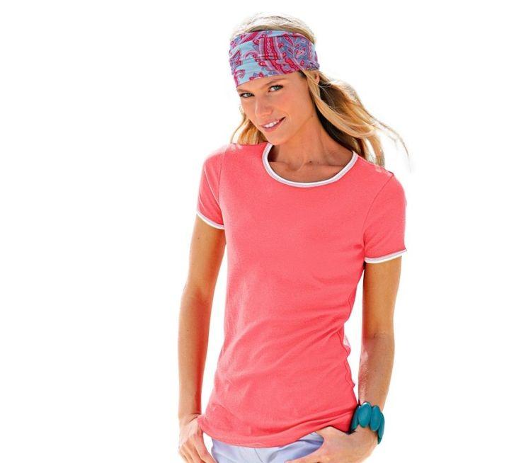 Tričko s bielym lemovaním | blancheporte.sk #blancheporte #blancheporteSK #blancheporte_sk #tshirt