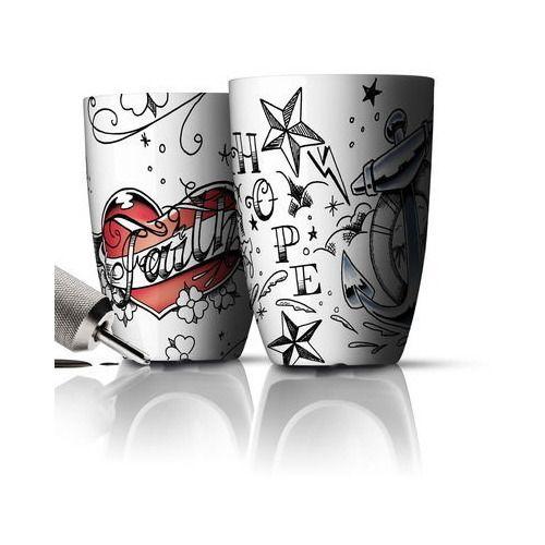 "Kubki termiczne Menu Unplugged Faith & Hope 2 szt. - DECO Salon. Set of 2 insulated mugs ""Faith & Hope"" prestigious Danish brand Menu #forher #mothersday #dlamamy #dlaniej #prezent"