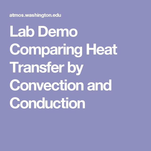 Lab Demo Comparing Heat Transfer by Convection and Conduction