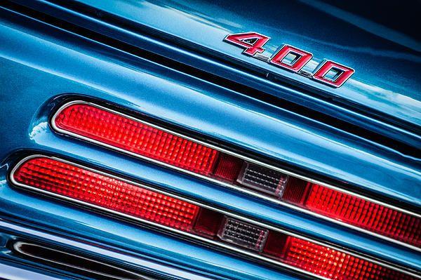 Pontiac Images by Jill Reger - Images of Pontiacs - 1969 Pontiac 400 Firebird Convertible Taillight Emblem