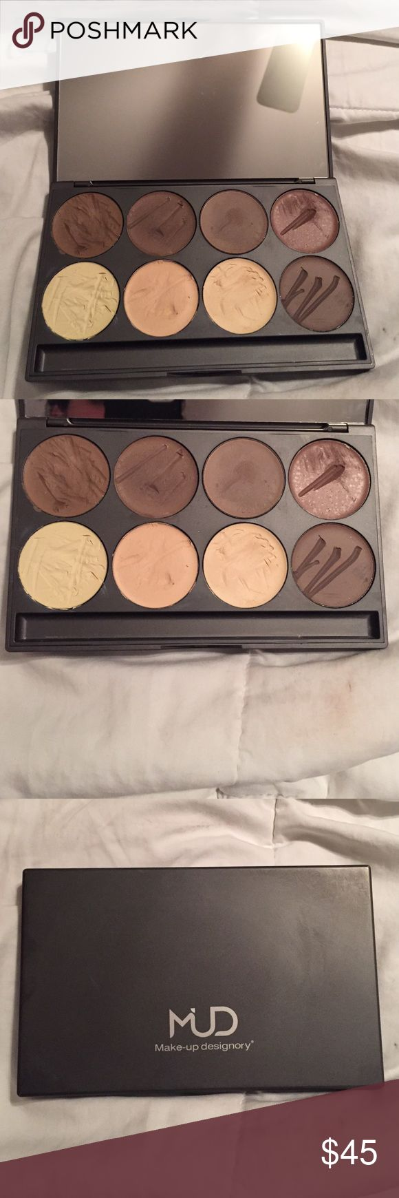 Makeup Designory Highlight Shadow Palette cream contour and highlight palette for all skin tones. gently used with spatula. retails for $118. Sephora Makeup Concealer