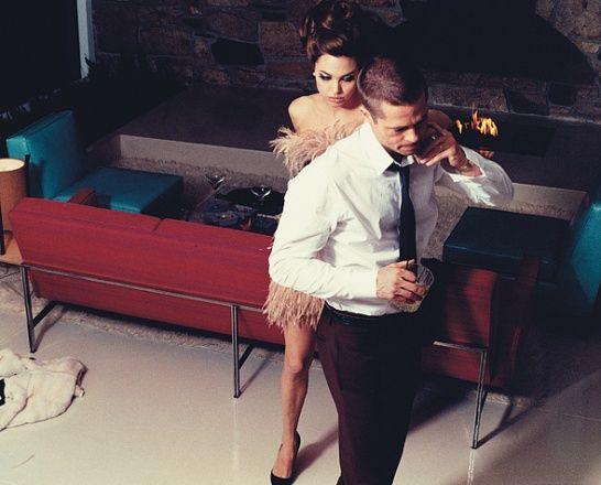 Photos: Brad and Angelina: Domestic Bliss - Brad Pitt and Angelina Jolie