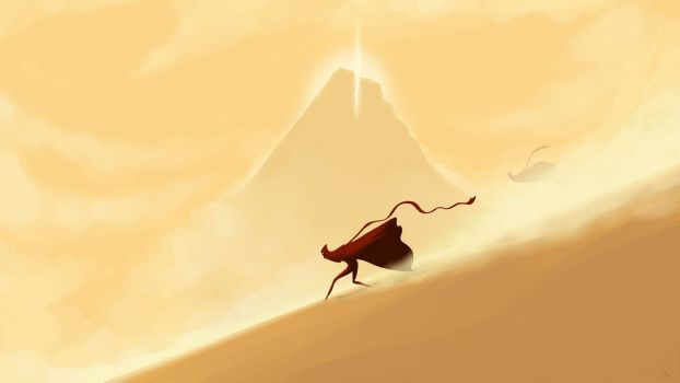 DeviantArt: More Like Journey Dual-Screen Wallpaper (3840x1080) by Nonexistent-One