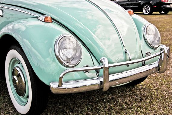 1966 Volkswagen Beetle Car Front End Fine Art by EyeShutterToThink