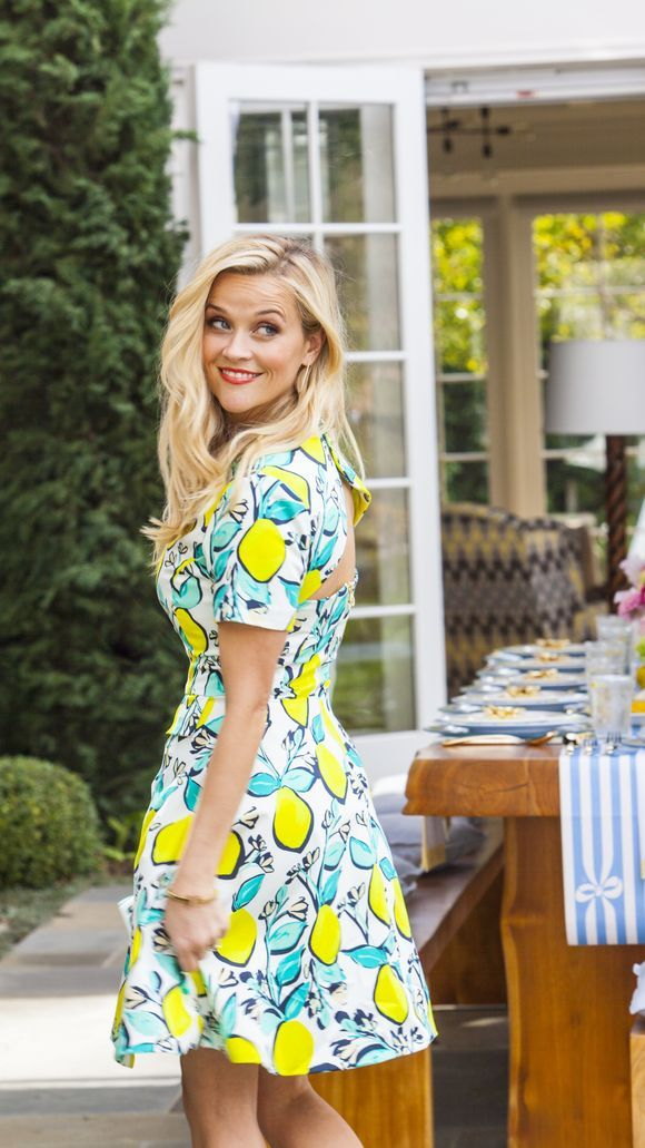 A pop of colour - Reese's style is playful, chic and fun #style #fashion #inspiration