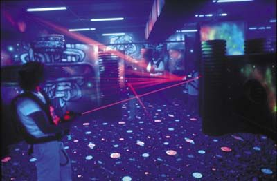lazer tag game with my friends - DONE! at Star City :)