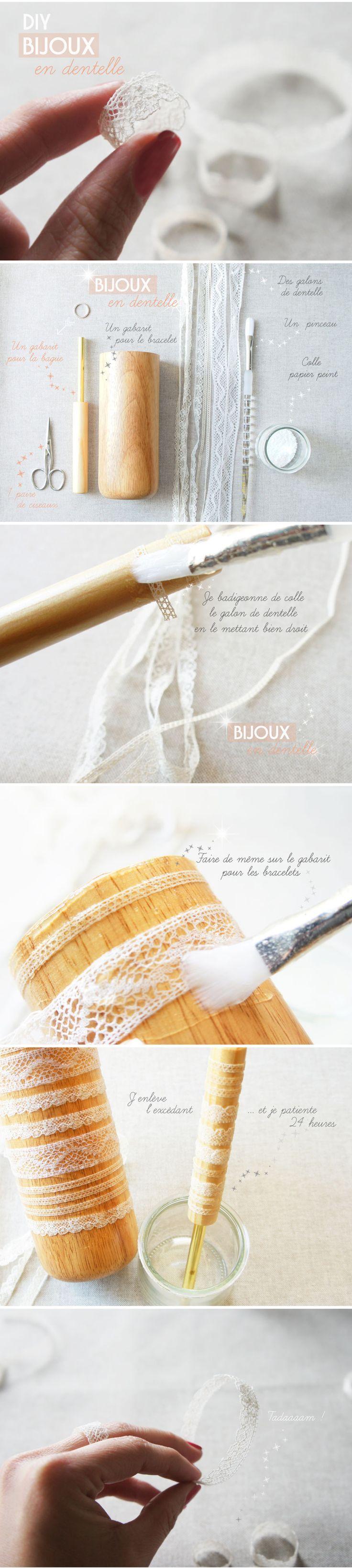 Blog MYLS BIJOUX DENTELLE_DIY-tutoriel Diy bague et bracelet facile et rapide à réaliser: