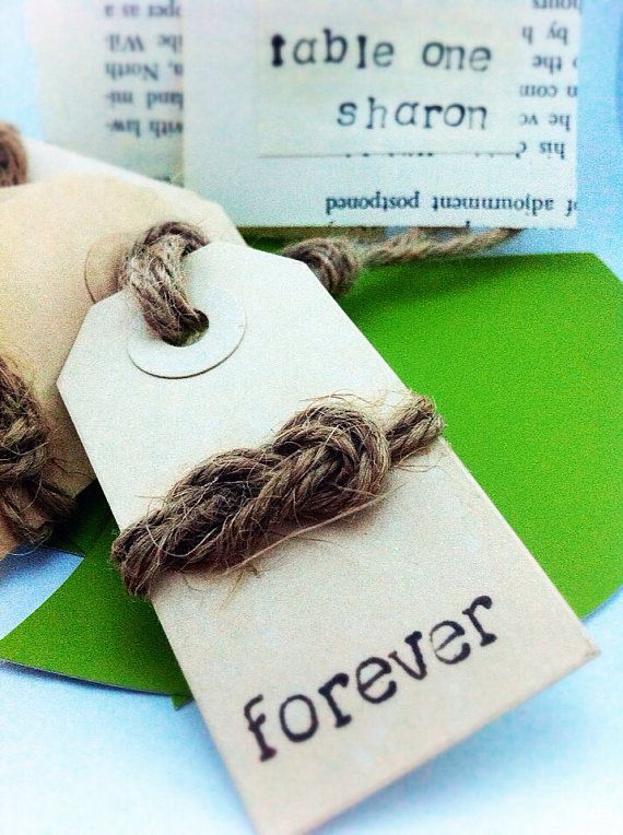 Wedding tag // wedding favor // fisherman's knot // eternity knot // forever tag // set of 25