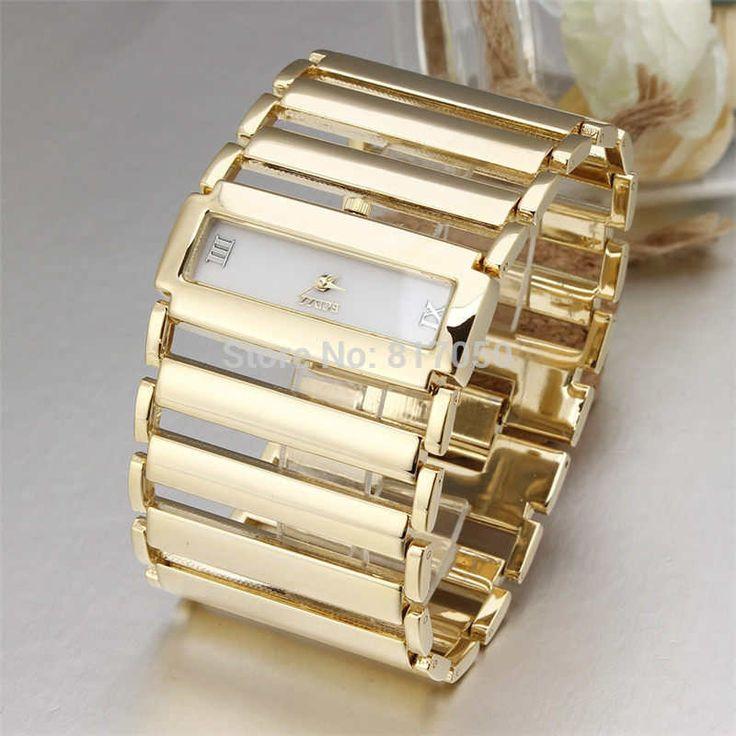 $19.99 (Buy here: https://alitems.com/g/1e8d114494ebda23ff8b16525dc3e8/?i=5&ulp=https%3A%2F%2Fwww.aliexpress.com%2Fitem%2F2015-new-fashion-dress-quartz-classic-watches-golden-big-rectangle-case-broad-steel-women-chain-strap%2F32598793440.html ) 2015 new fashion  dress quartz classic watches golden big rectangle case broad steel women chain strap bracelet wristwatch gift for just $19.99