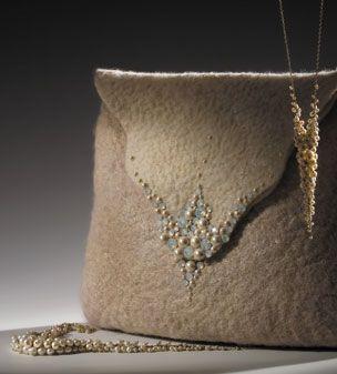 Anat Gelbard - Felt clutch bag