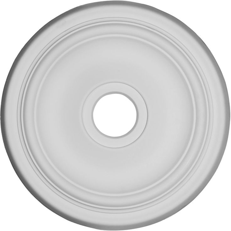 "19 1/2"" OD x 3 1/2""ID x 1 5/8""P Traditional Ceiling Medallion, Primed - 33.98"