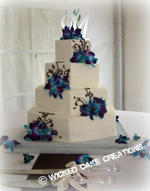 Wedding Cake...different flowers