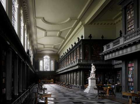 """The Codrington Library, 1751 All Souls College. Oxford, United Kingdom. Hawskmoor did not live to see the completion of the library, which was carried out by James Gibbs.From """"The Library: A World History"""" by Cambridge University architectural historian James Campbell and photographer Will Pryce. Photo: Will Pryce / This picture can only be used with prior permission and/or agreement of fees with Will Pryce."""